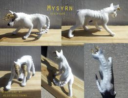 Mysyrn sculpture commission by AlieTheKitsune