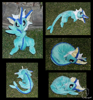 Vaporeon floppy plush by racingwolf