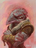 corvid monk by FablePaint