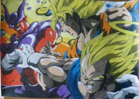 Dragonball Z- Color de Goku y Vegeta VS Janemba by TriiGuN