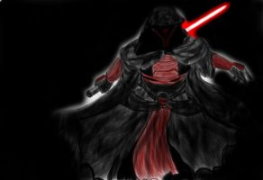 darth revan attack colored by Hungarianbeast