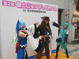 Captain Jack with Hatsune Miku and ??? by rlkitterman