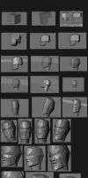 3D face tutorial by shakquan
