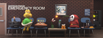 Mushroom Kingdom Emergency Room by JoshMaule