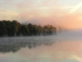 Morning on the Misty River by robicus