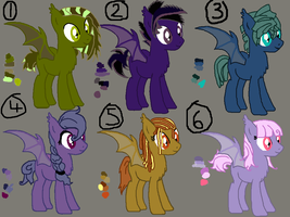 BatPony adoptables [CLOSED] by SonicRainbowDash98
