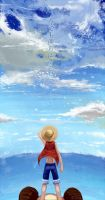 Fly IN sky_LUFFY by junefeier