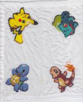 Pokemon Napkin Complete by RetroStitch