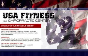 USA Fitness Web Site by AndrewJHarmon
