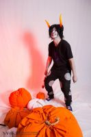Gamzee and cute pumpkins :3 by Dead-Batter