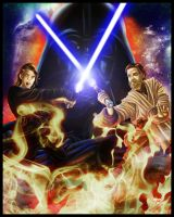 Anakin vs Obi-Wan by Lord-FSan