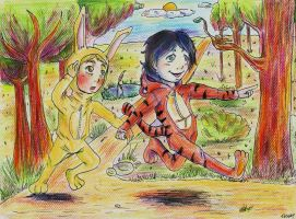 Sherlock and Hundred Acre Wood by Tessay