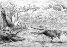 Archosaurian rivalry by T-PEKC