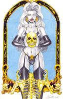 Lady Death _ Skeleton by daikkenaurora