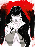 Vampirella 9x12 by Hodges-Art