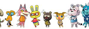 My Villagers by vern-argh