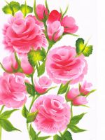 Pink Roses by Abaez40
