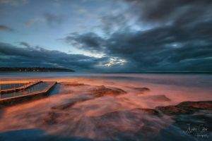 South Curl Curl Beach - A peek of light by jaydoncabe