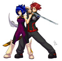 Commission: Yeomi and Arkei by Claymore32