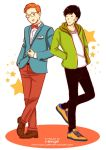 Nowadays style! Tintin and Chang by HanzaLee