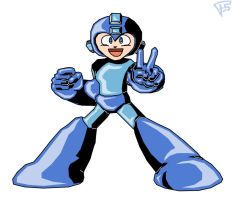 Megaman Victory colors by Brainstorm-bw-style