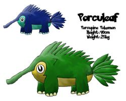 Fakemon 001 - Porculeaf by RaptorRexIII