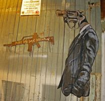 Mr. Baltimore - Art is my Weapon by TOVENstreetArt