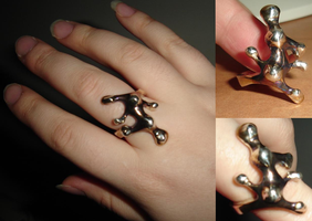 Sterling Silver Cast Ring by OtakuEC