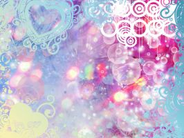 .Swirl Blue + Pink Background. by MamuEmu