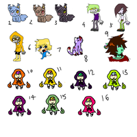 LeftOver Adopts 2-9 points! [OPEN] by FunkyDreamer