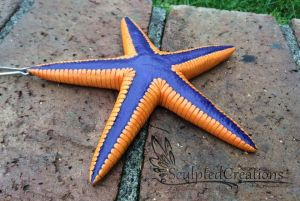 Royal starfish realistic sculpture by SculptedCreations