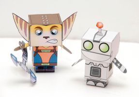 Ratchet and clank cubeecraft by scarykurt