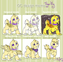 OC Design meme - Tigerlily by MizAmy
