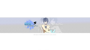 Youtube banner: Gray Fullbuster by HinaxFlower