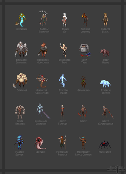 Project Accursed - Character Sprites 1 by Serathus