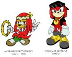 Knuckles 1960s to 1980s by spydaman