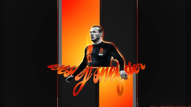 Wesley Sneijder Wallpaper by Piotr-Designs