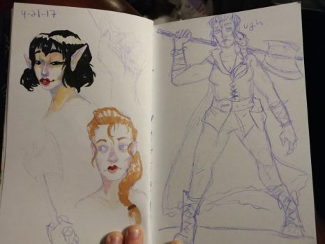 Sketchbook pages for today by GryphonDecay