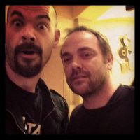 Aaron meets Mark Sheppard by MJandGhostAdventures