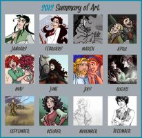 2012 Art Summary by GingerOpal