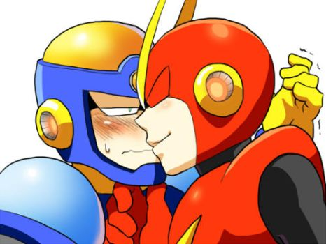 Flash Man x Quick Man (L) by yuney-chan