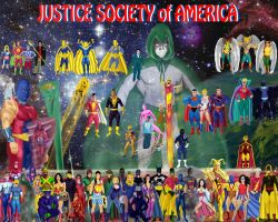 The Justice Society of America by DaswookofHeromorph