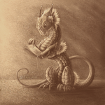 Book Worm Dragon. by Zaellrin