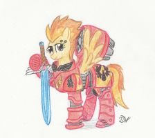 Captain Spitfire of the Blood Angels by Sensko