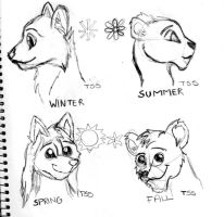 Wolf and Lions Seasons by TLK-SIMBA-SANDSLASH