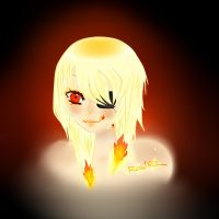Her Flames - OC [edited brighter] by TrishRawrz