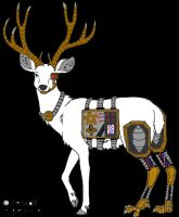 steampunk deer adoptable by dahlia-hybrid