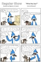 Regular Show Comic by Bleuxwolf