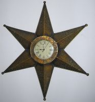 Gold Star Clock by ILoveVacStock