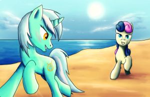 Run on the Beach by Fox-Moonglow